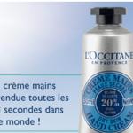 Crème pour les mains L'Occitane en Provence gratuite !