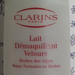 Lait démaquillant velours (Herbes des Alpes) de Clarins – revue