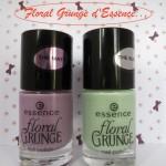 Mes vernis de la collection Floral Grunge d'Essence !