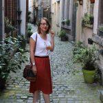 [Look #1] Baskets hautes + jupe longue = le combo idéal des journées chaudes et pluvieuses !
