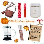 Petite wishlist d'automne