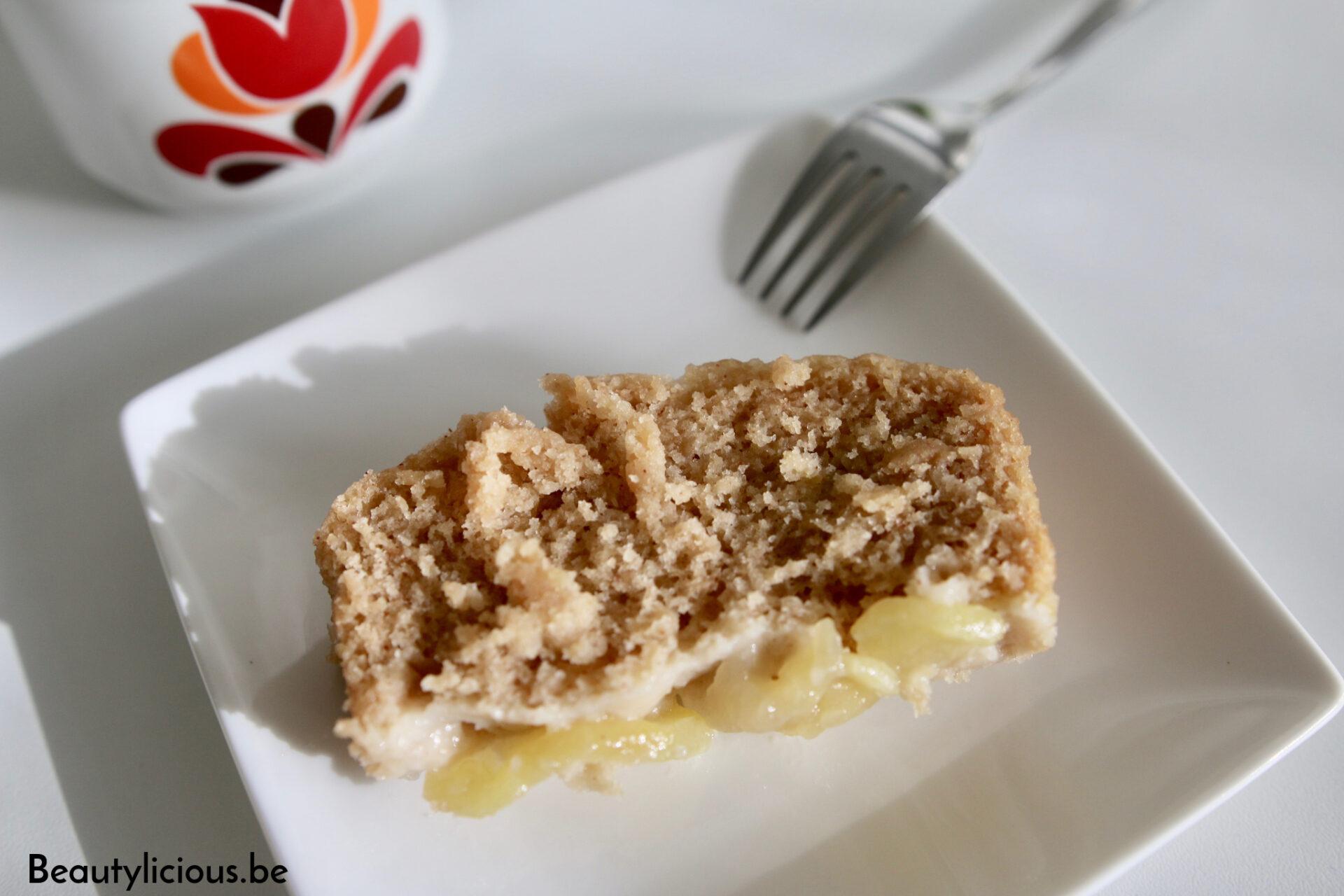 Cake aux pommes vegan à la vapeur
