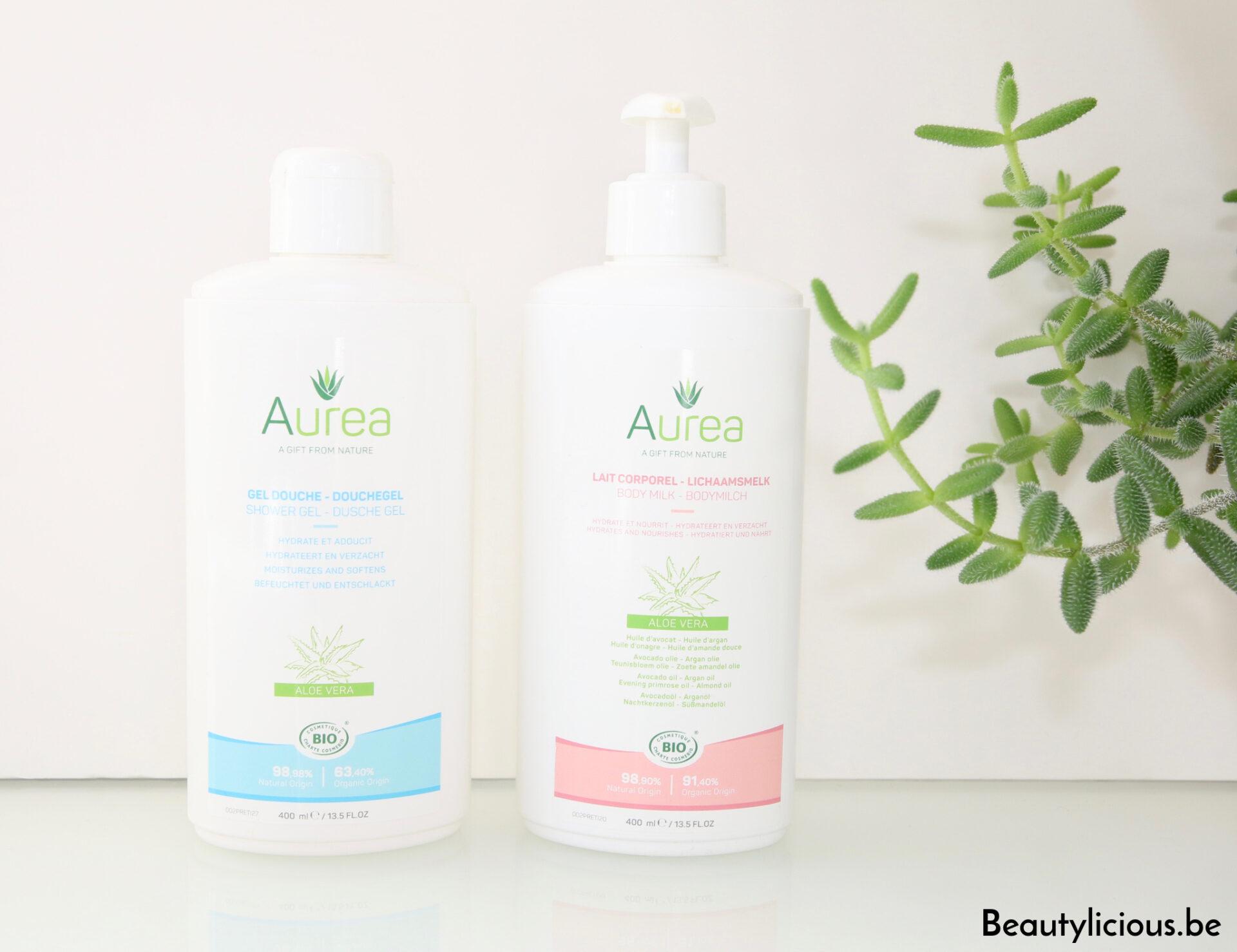 Routine corps de la marque belge Auréa, cosmétiques bio, naturels et vegan