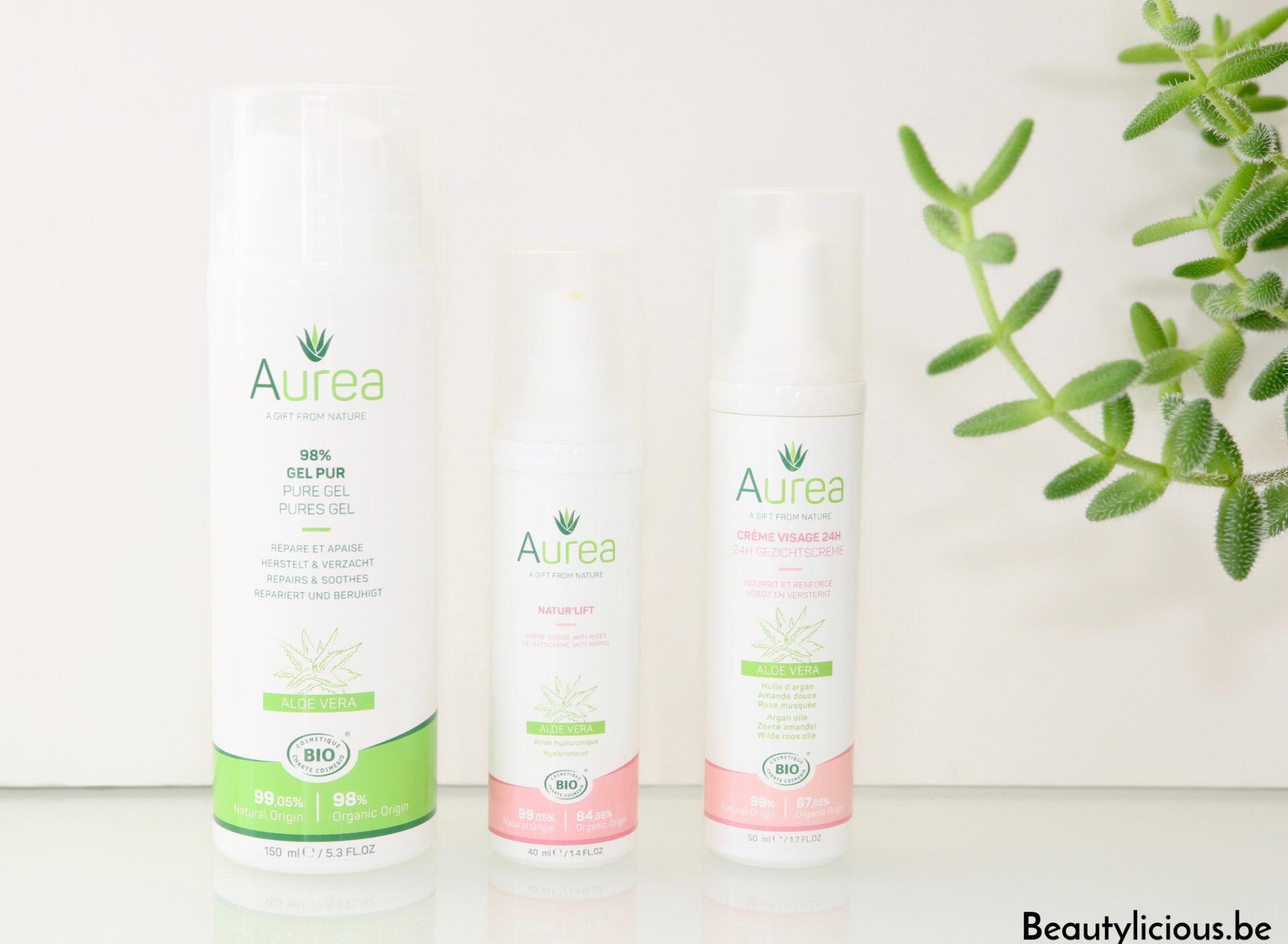 Routine visage avec Auréa, marque belge de cosmétiques bio, naturels et vegan