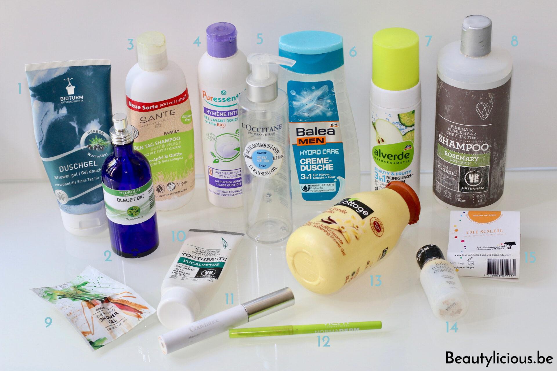 Avis produits cosmétiques terminés