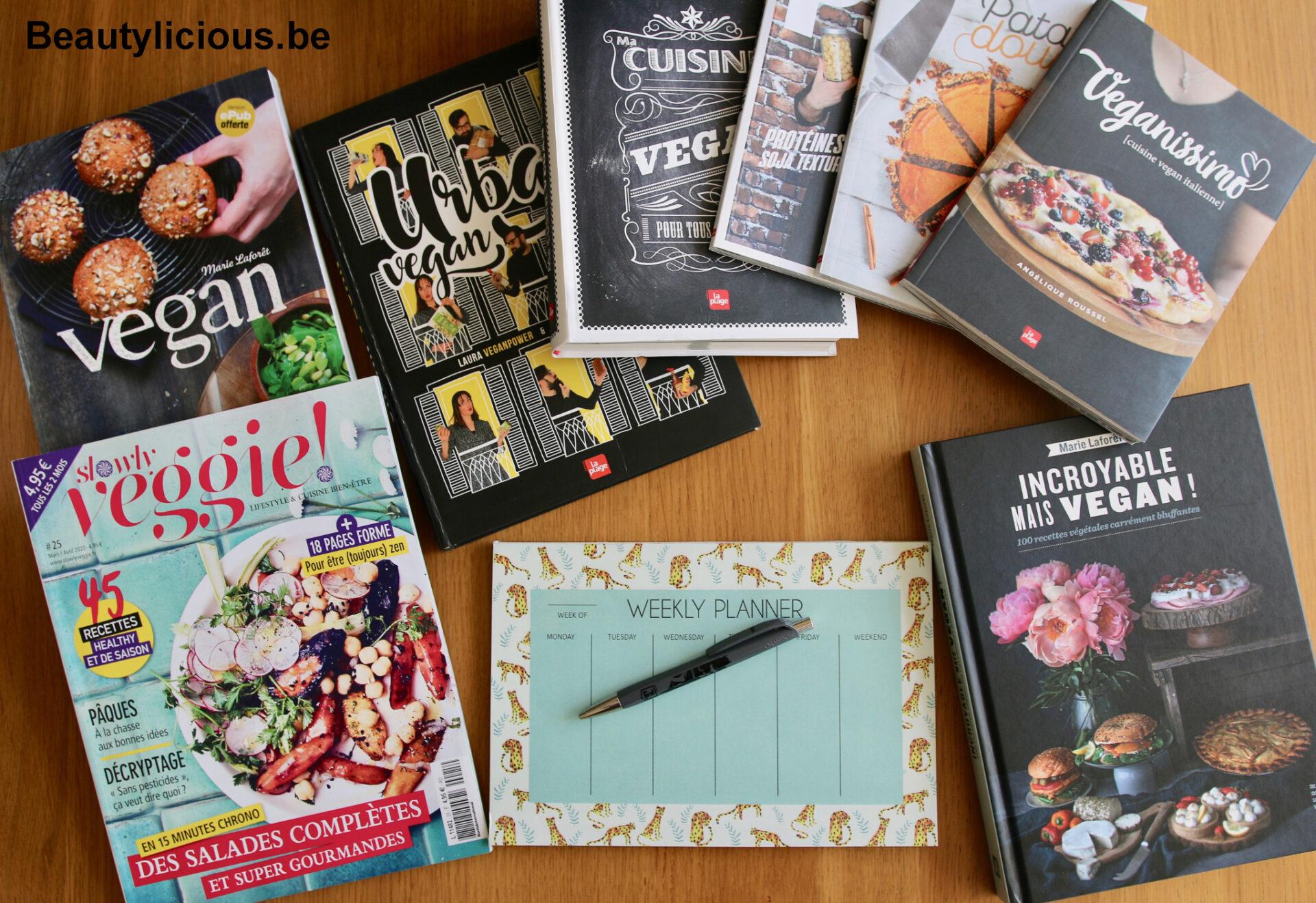 Livres de recettes vegan pour planifier le menu hebdomadaire