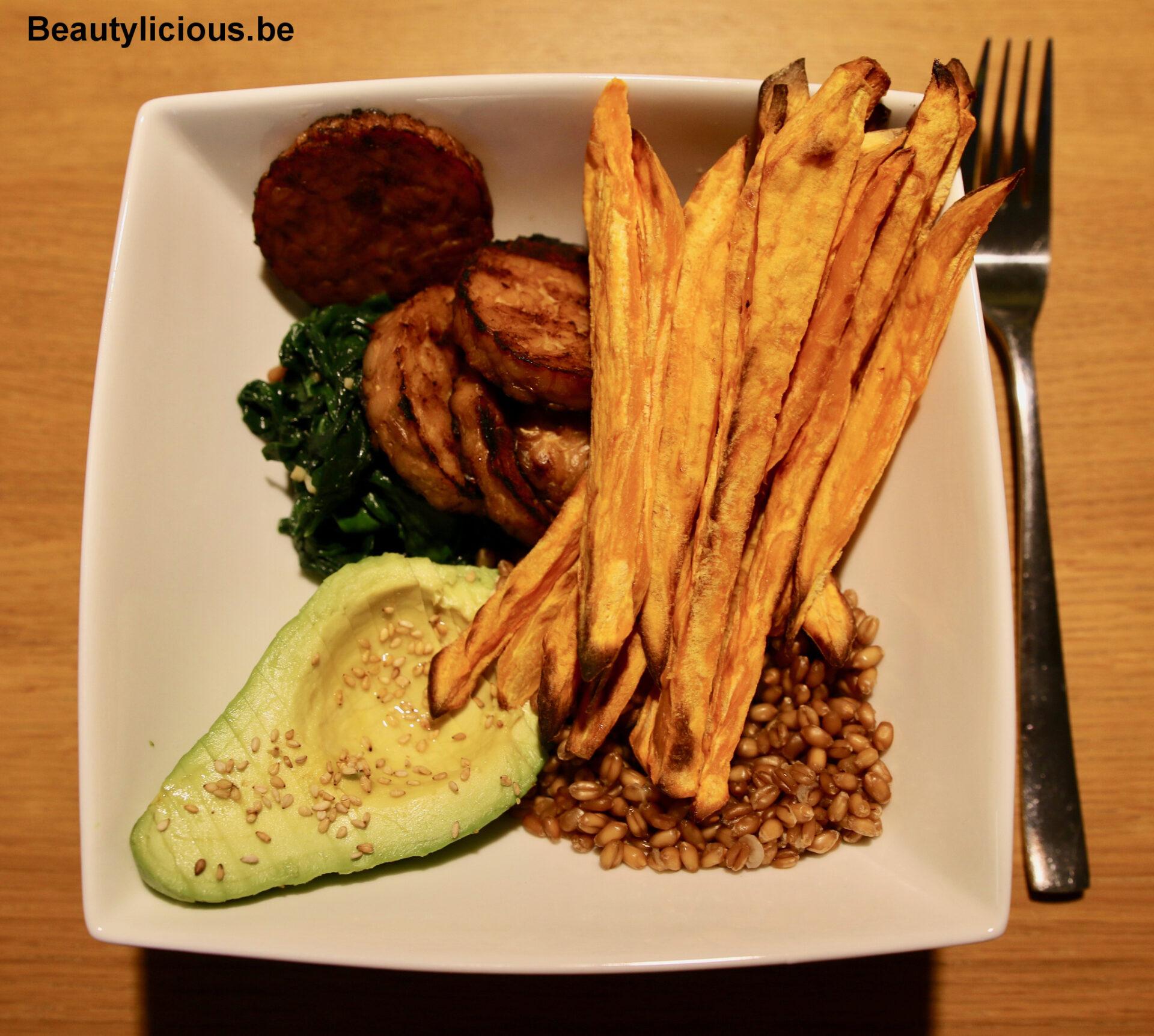 Exemple de plat vegan de mon menu hebdomadaire