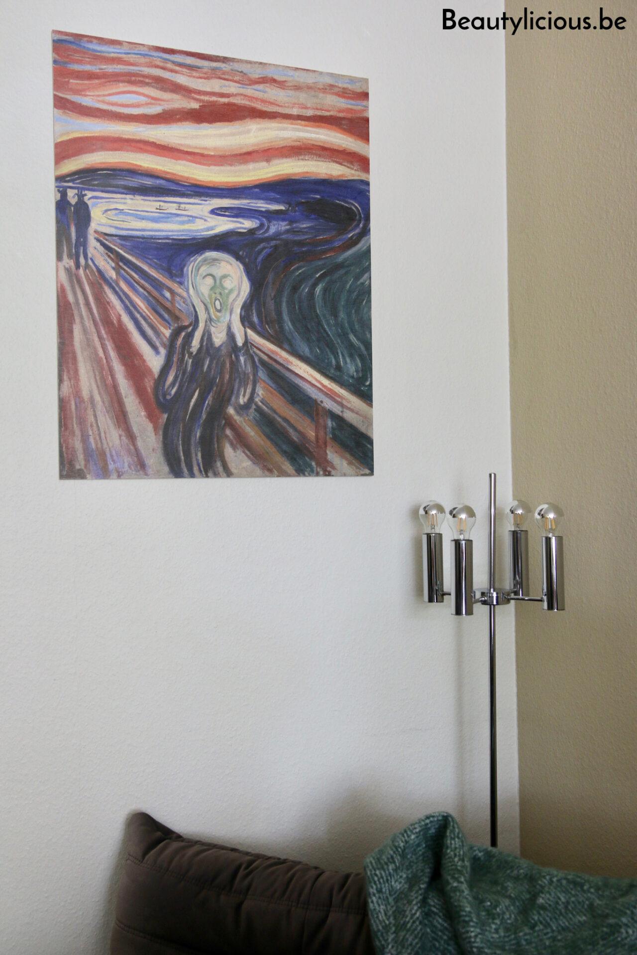 Le Cri de Munch en impression sur bois de Posterlounge