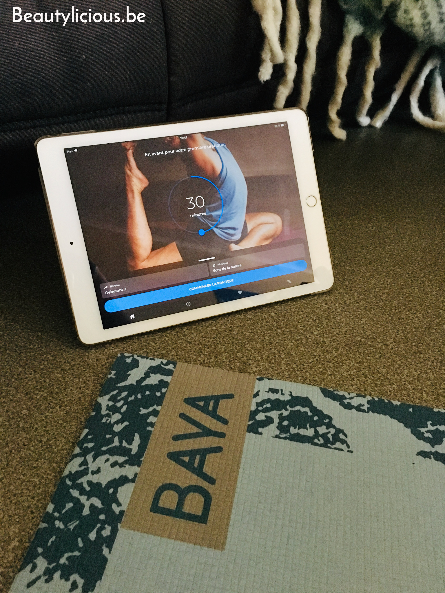 Pratique du yoga à domicile avec l'application Down Dog
